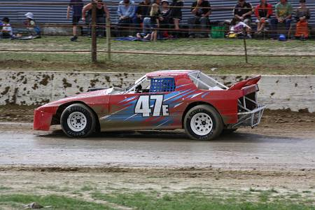 Paddy driving Shane Scott's RX7 Saloon