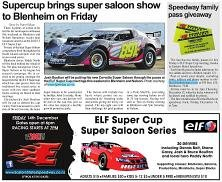 Supercup brings super saloon show to Blenheim on Friday