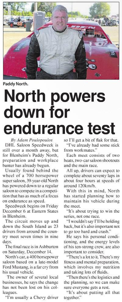 North powers down for endurance test